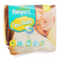 PAMPERS COUCHES NEW BABY TAILLE 1 2-5 KG x 25 à Paris