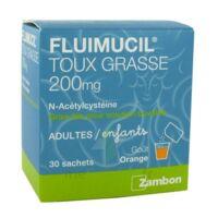 FLUIMUCIL EXPECTORANT ACETYLCYSTEINE 200 mg SANS SUCRE, granulés pour solution buvable en sachet édulcorés à l'aspartam et au sorbitol à Paris