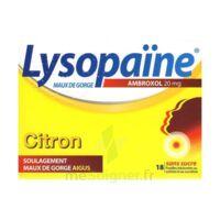 LysopaÏne Ambroxol 20 Mg Pastilles Maux De Gorge Sans Sucre Citron Plq/18 à Paris