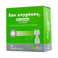EAU OXYGENEE 10 VOLUMES GILBERT, solution pour application cutanée en récipient unidose à Paris
