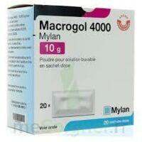 Macrogol 4000 Mylan 10 G, Poudre Pour Solution Buvable En Sachet-dose à Paris