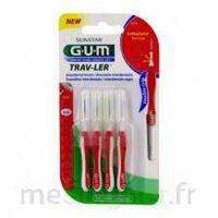 Gum Trav - Ler, 0,8 Mm, Manche Rouge , Blister 4 à Paris