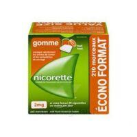 Nicorette 2 mg Gomme à mâcher médicamenteuse sans sucre fruits Plq/210 à Paris
